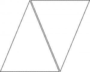 triangle banner template triangle template