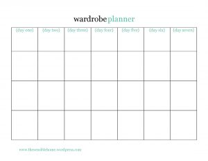 trip planner template daily wardrobe planner