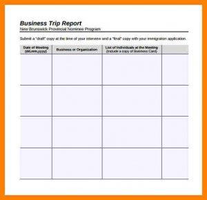trip report template business trip report template business trip report template sample