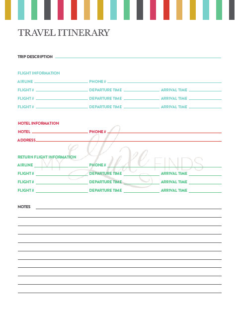 trip report template