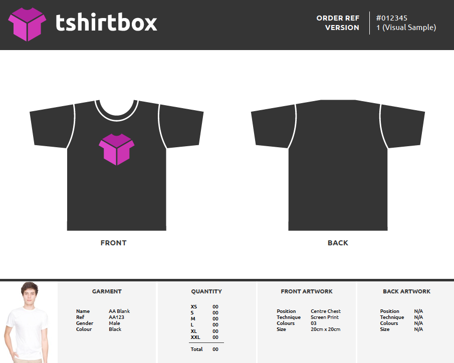 Screen Printing Order Form Template Tshirt Business