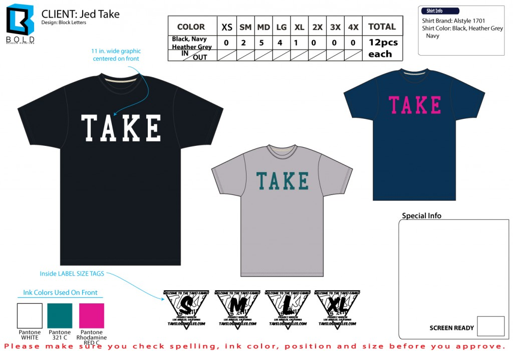 tshirt order form template