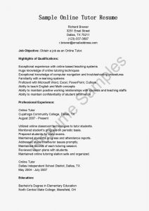 tutor resume sample sample online tutor resume