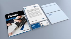 two sided business cards corporate identity mockup