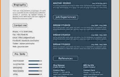 two week notice letters graphic designer resume psd free cv resume psd template