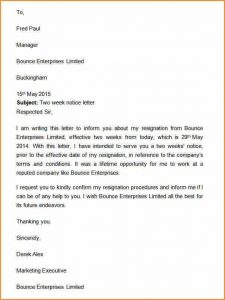 two weeks resignation letter week notice template two weeks notice letter template