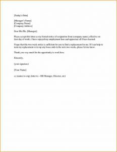 Two Weeks Resignation Letter | Template Business