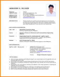 undergraduate student cv template curriculum vitae new format latest resume format resume format intended for latest resume format