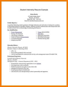undergraduate student cv template cv pattern for internship how to write a cv for an internship student internship resume example