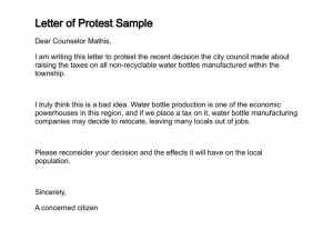 unemployment appeal letter letter of protest sample