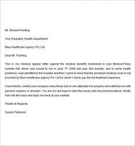 unemployment appeal letter medical appeal letter