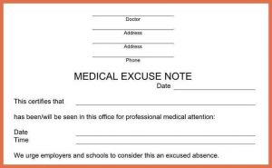 urgent care doctors note template urgent care doctors note template doctors notes
