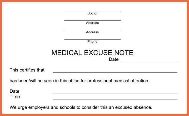 urgent care doctors note template