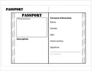 us passport photo template editable passport printable templates