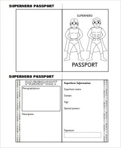 us passport photo template superhero passport writing frame printable template download