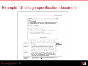 use case document effectively communicating user interface and interaction design