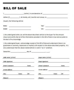 used car bill of sale template bill of sale for used car on stylecars with used car bill of sale template