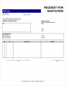 vacation budget template request for quote template request for quotation template excel