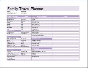 vacation itinerary planner family travel planner