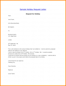 vacation request letter holiday request letter sample how to write a letter of request template with vacation letter sample
