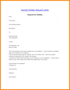 Vacation request letter template business vacation request letter sample of vacation leave letter thecheapjerseys Choice Image