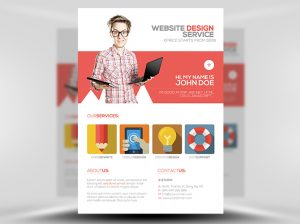 valentine day flyer flat web design flyer template