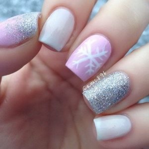valentine nails design pink and white nail art designs