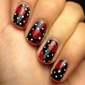 valentine nails design red black nail designs