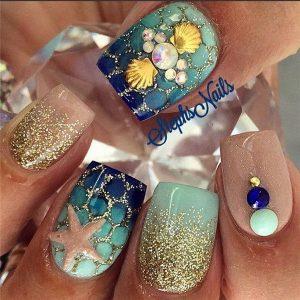 valentine nails design green nail art designs
