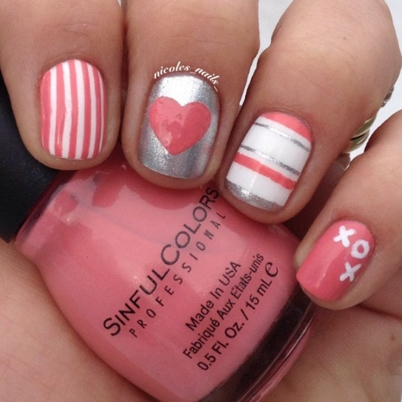 valentine nails design