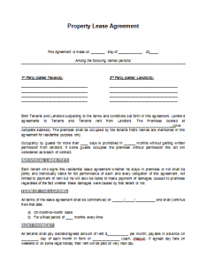 vehicle lease agreement lease agreement template