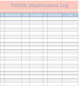 vehicle maintenance log vehiclemaintenance 06.04.14