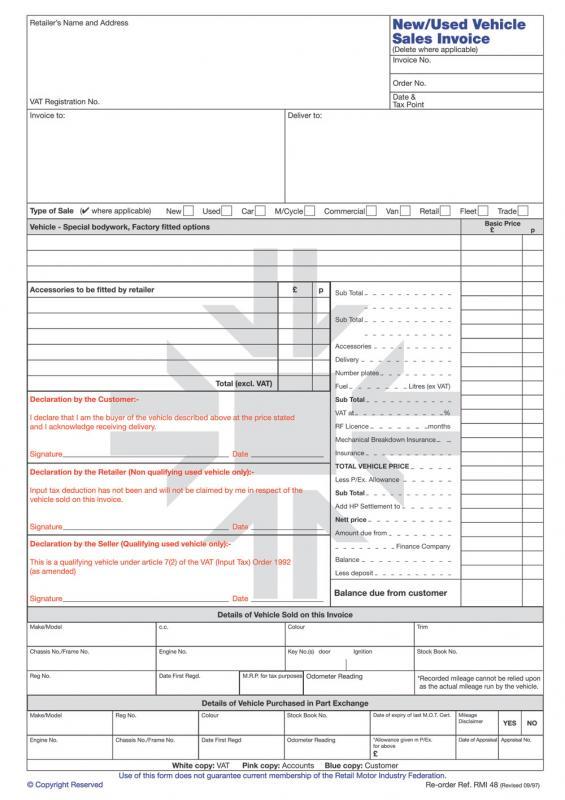 vehicle sale agreement