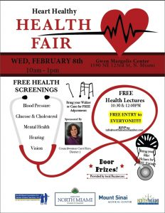 vendor application form health fair flyer