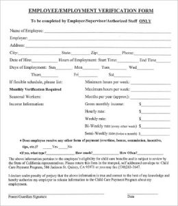 verification of employment blank verification of employment form1