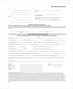 verification of employment form template doc verification of employment form template verification