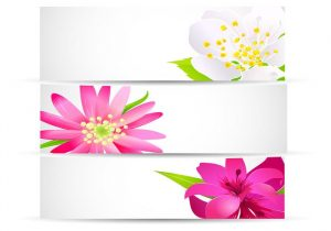 vertical banner design bright floral banner vector pack