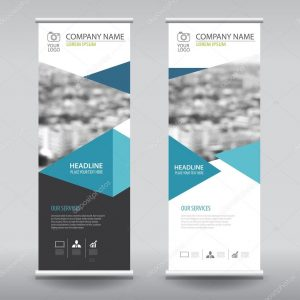 vertical banner design depositphotos stock illustration roll up business brochure flyer