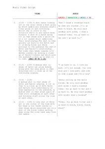 video script template music video script template