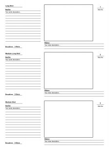 video storyboard template storyboard template psd video production large