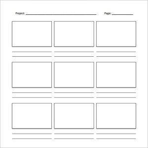 video storyboard template video storyboard template
