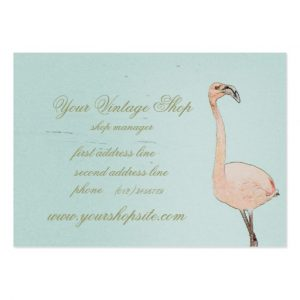 vintage business cards pink flamingo art vintage shop template business card rbcfaadadae xwjeg byvr