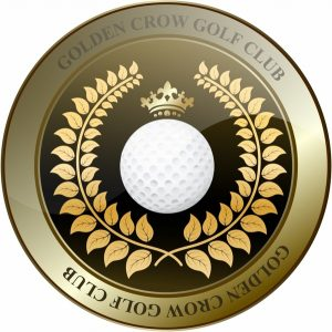 vintage label template golden crown golf club shield