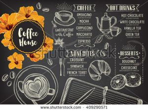 vintage label template stock vector coffee restaurant brochure vector coffee shop menu design vector cafe template with hand drawn