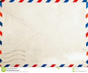 vintage postcard template retro air mail post envelope