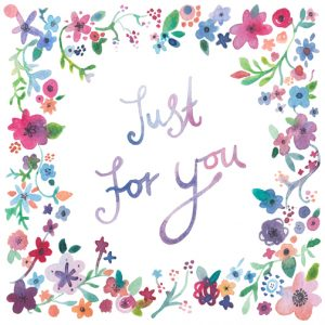 vintage thank you cards floral just for you x