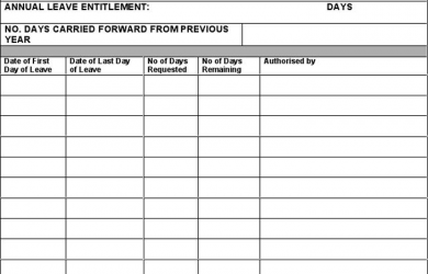 visitor sign in sheet annual leave record form full time staff
