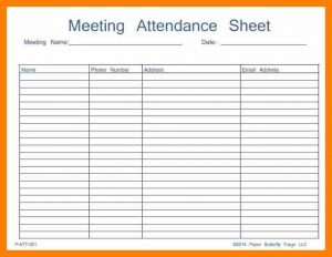 generic sign in sheet
