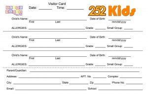 visitor sign in sheet template preschool childrens visitor card