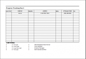visitor sign in sheet template progress tracker